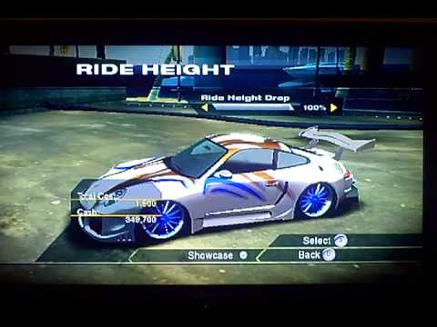 NFS Undercover Customizing A 911 Turbo