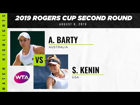 Ashleigh Barty vs. Sofia Kenin | 2019 Rogers Cup Second Round | WTA Highlights