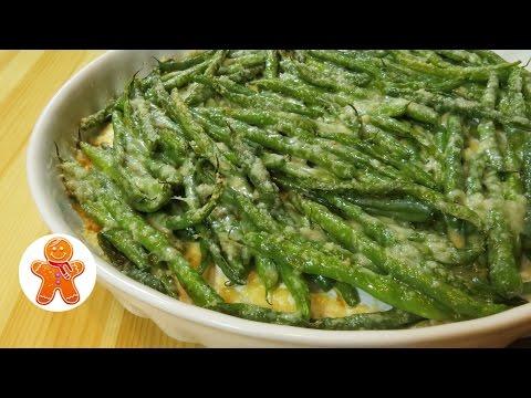 Зеленая фасоль с сыром