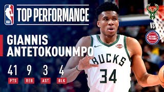 Download Giannis Posts PLAYOFF CAREER-HIGH 41 Points in Close-Out | April 22, 2019 Mp3 and Videos