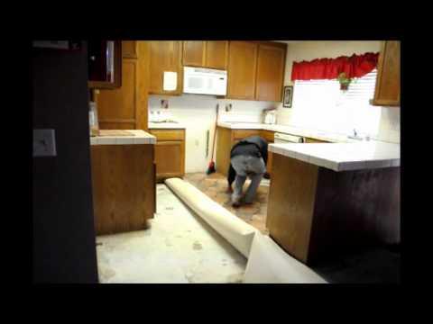 replacing your vinyl kitchen floor part 2 - youtube