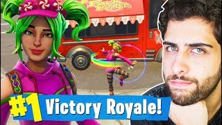 I RELEASED THE ZOEY SKIN AND I WON IT USING THE NEW DANCE! 15K-Battle Royale Fortnite