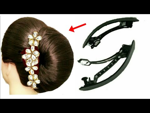 new-easy-hairstyle-for-french-hairstyle-||-french-bun-||-french-roll-||-hair-style-girls