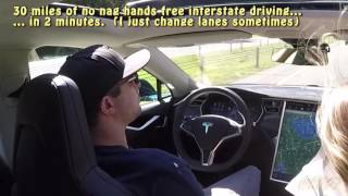 Tesla Autopilot Auto Steer Firmware v7 (2.7.56) - 30 miles with no nags