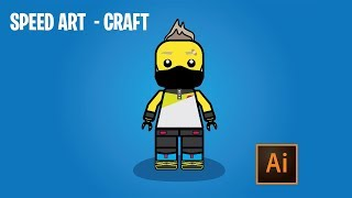 FORTNITE SEASON 5 SKIN CRAFT EMOJI LEGO AI LEVEL 0 !!! [SPEEDART]