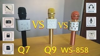 Q7 VS Q9 VS WS 858 Detail Review In Hindi/Urdu | Which Mic Is Best Q9 Q7 or WS 858