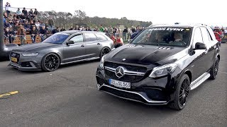 Mercedes-AMG GLE63 AMG vs Audi RS6 Avant ABT