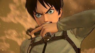 Attack on Titan (PS4): Eren Yeager (Transformation) Gameplay (進撃の巨人) (1080p)