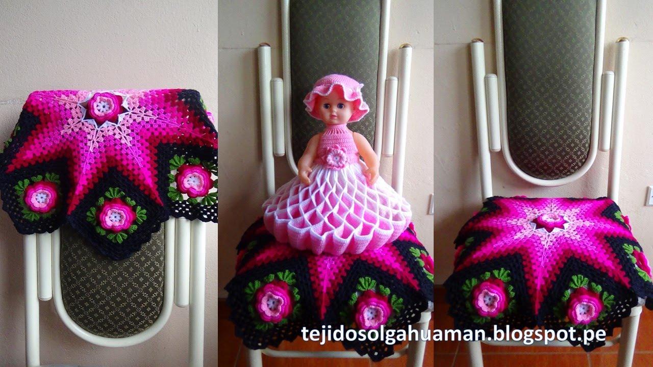Fant Stico Modelo De Estrella Del Ganchillo Composici N Manta De  -> Tapetes Para Sala Tejidos A Crochet