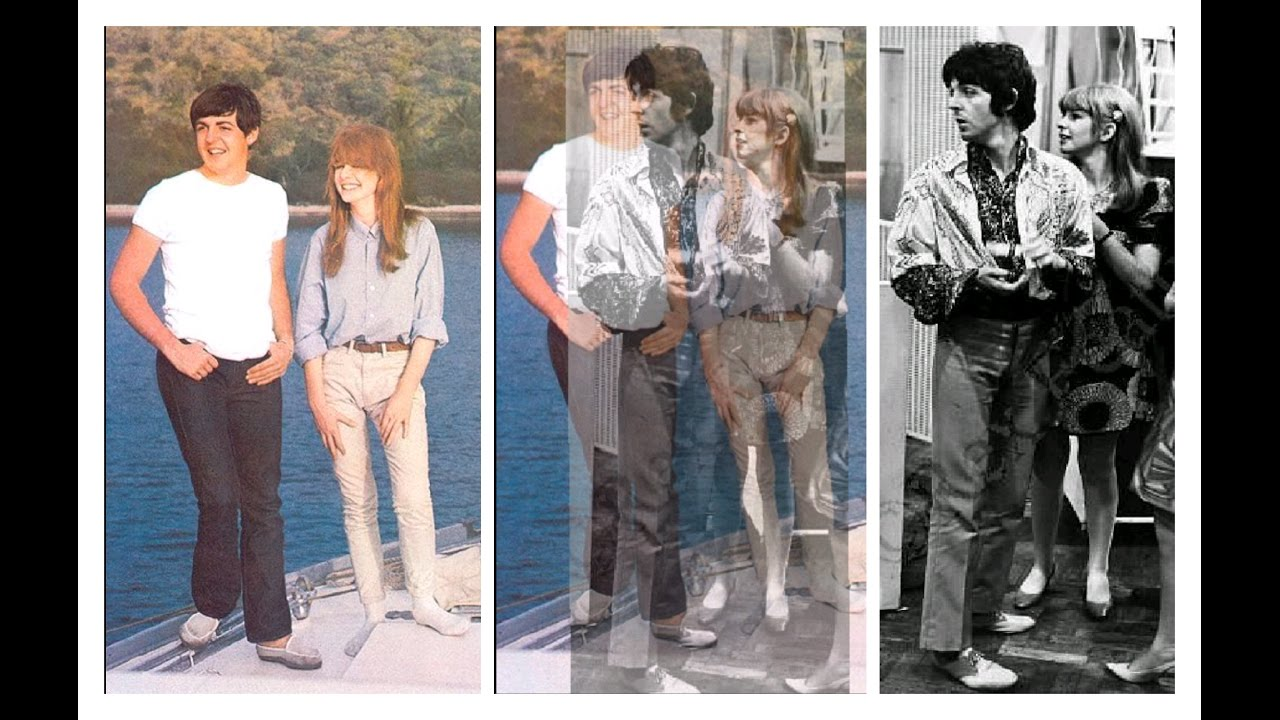 Paul McCartney Jane Asher Photo Comparison 1964 1967
