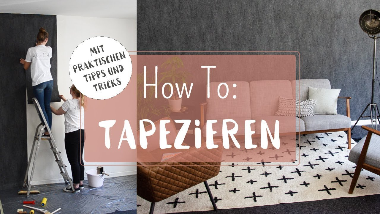 tapezieren f r anf nger vliestapeten richtig anbringen youtube. Black Bedroom Furniture Sets. Home Design Ideas