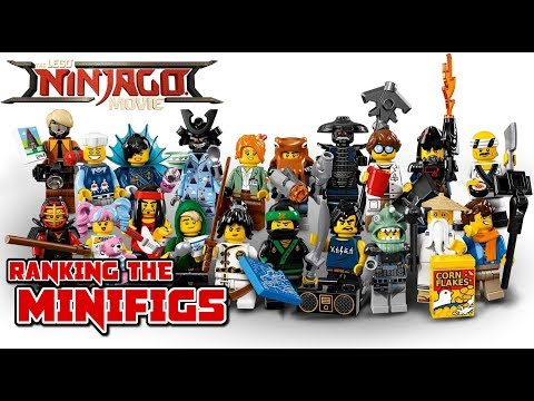 TOP 20 NINJAGO MOVIE MINIFIGURES - The LEGO Ninjago Movie (2017)
