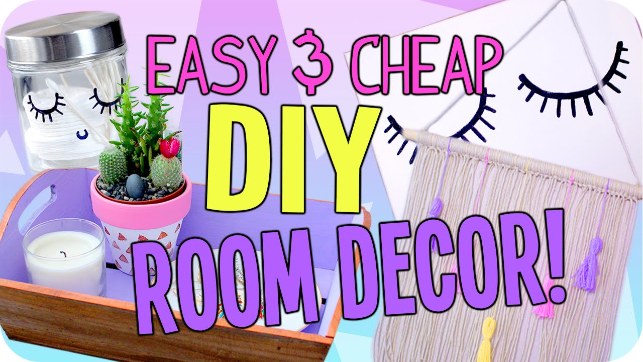easy diy room decor cheap cute youtube - Cheap Decor