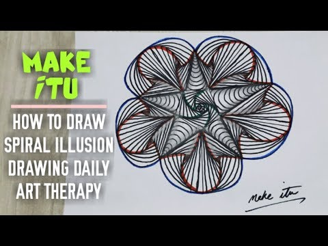 HOW TO DRAW SPIRAL ILLUSION DRAWING...Play with lines and patterns