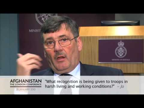 Bob Ainsworth discusses the recognition give to troops in Afghanistan