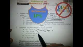 Logika Matematika- Pembahasan Soal UN MATEMATIKA IPS 2014 No.2
