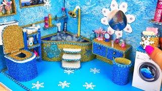 Miniature Dollhouse. How to make Barbie Bathroom. Miniature for doll. (Play Dolls)