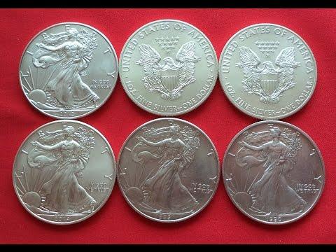 1-Oz Fine Silver - One Dollar USA - Инвестиционный Серебряный Доллар США