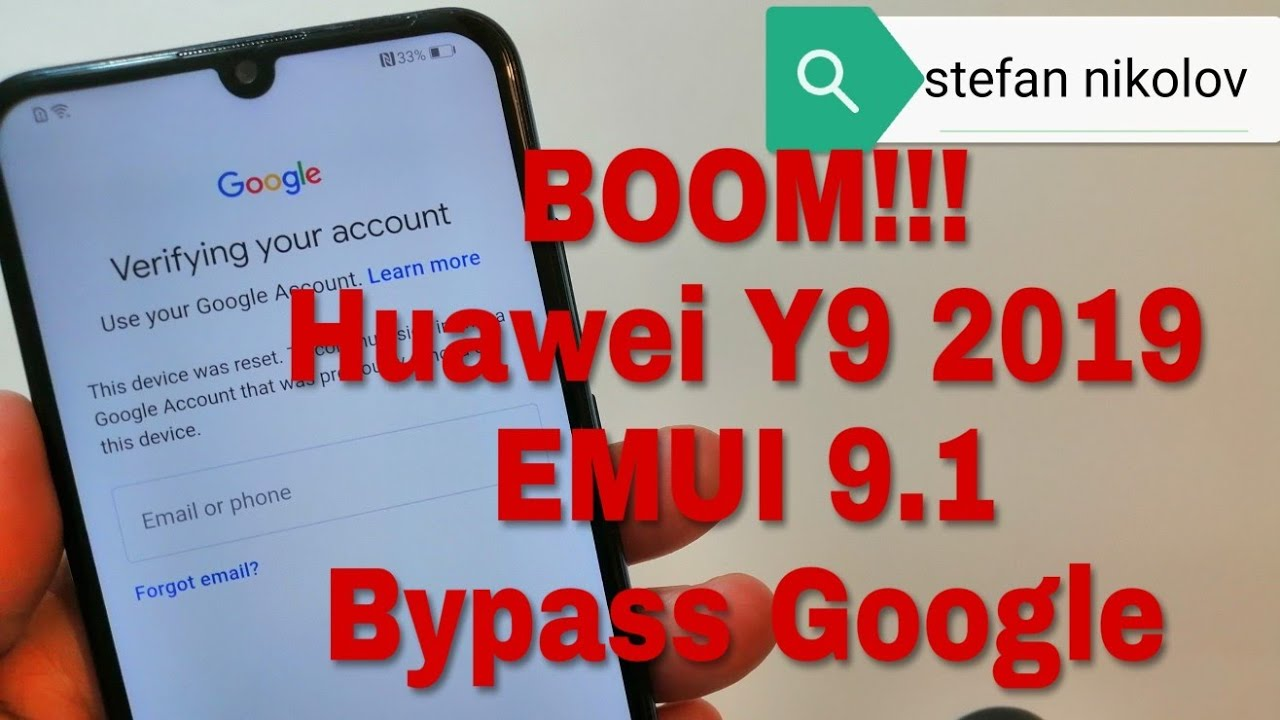BOOM!!! Huawei Y9 2019 /JKM-LX1/  Remove Google Account,Bypass FRP