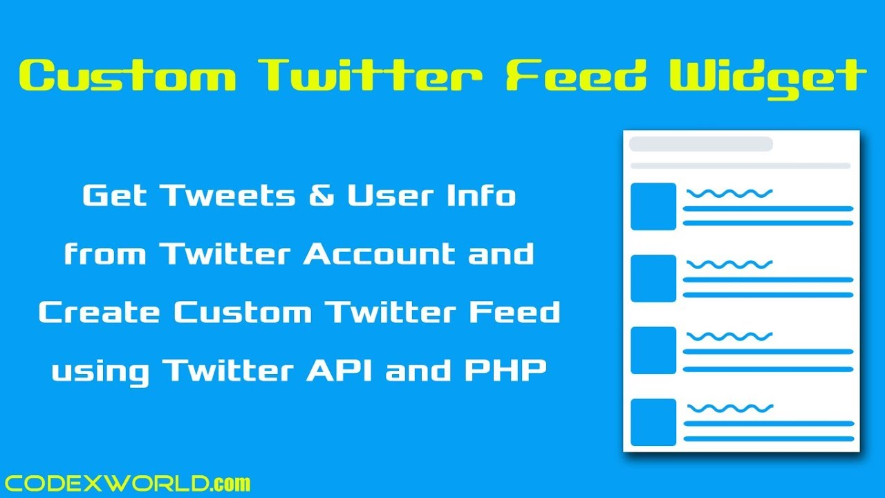 08a7a5397 Create Custom Twitter Feed Widget using PHP - YouTube