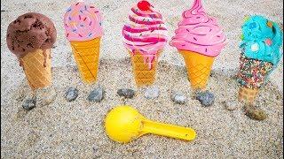 #Игрушки для Песочницы Готовим Мороженое На Море Детские Игры на пляже 108мама тиви