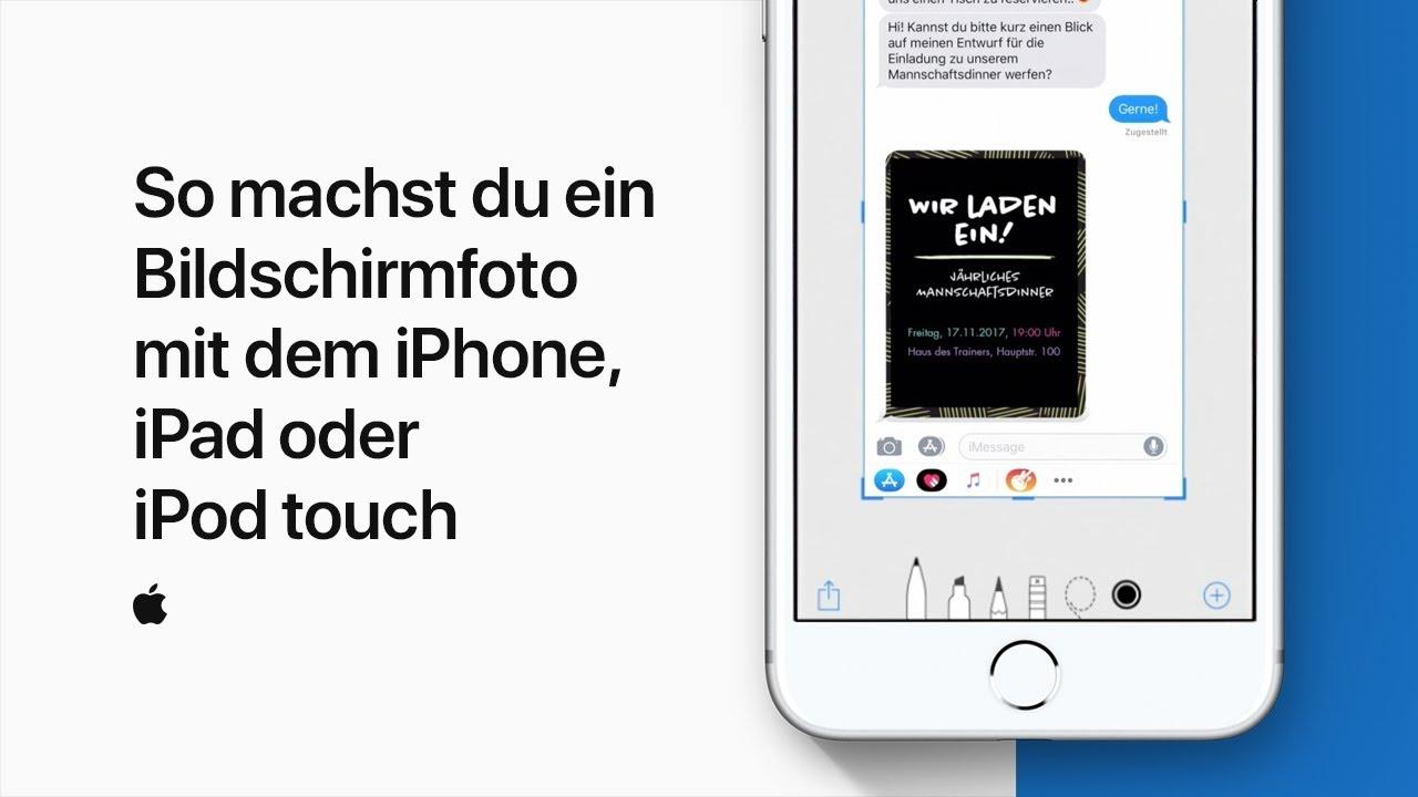 So Machst Du Ein Bildschirmfoto Mit Dem Iphone Ipad Oder Ipod Touch