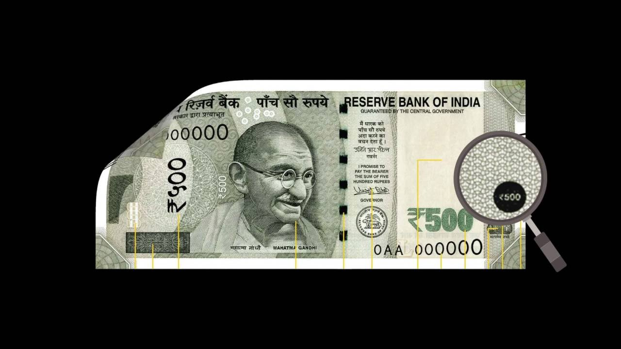 Security Features of the new 500 rupee note    RBI    Factly