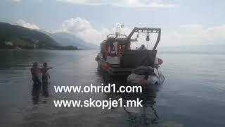Автомобил падна од карпи во Оридско Езеро