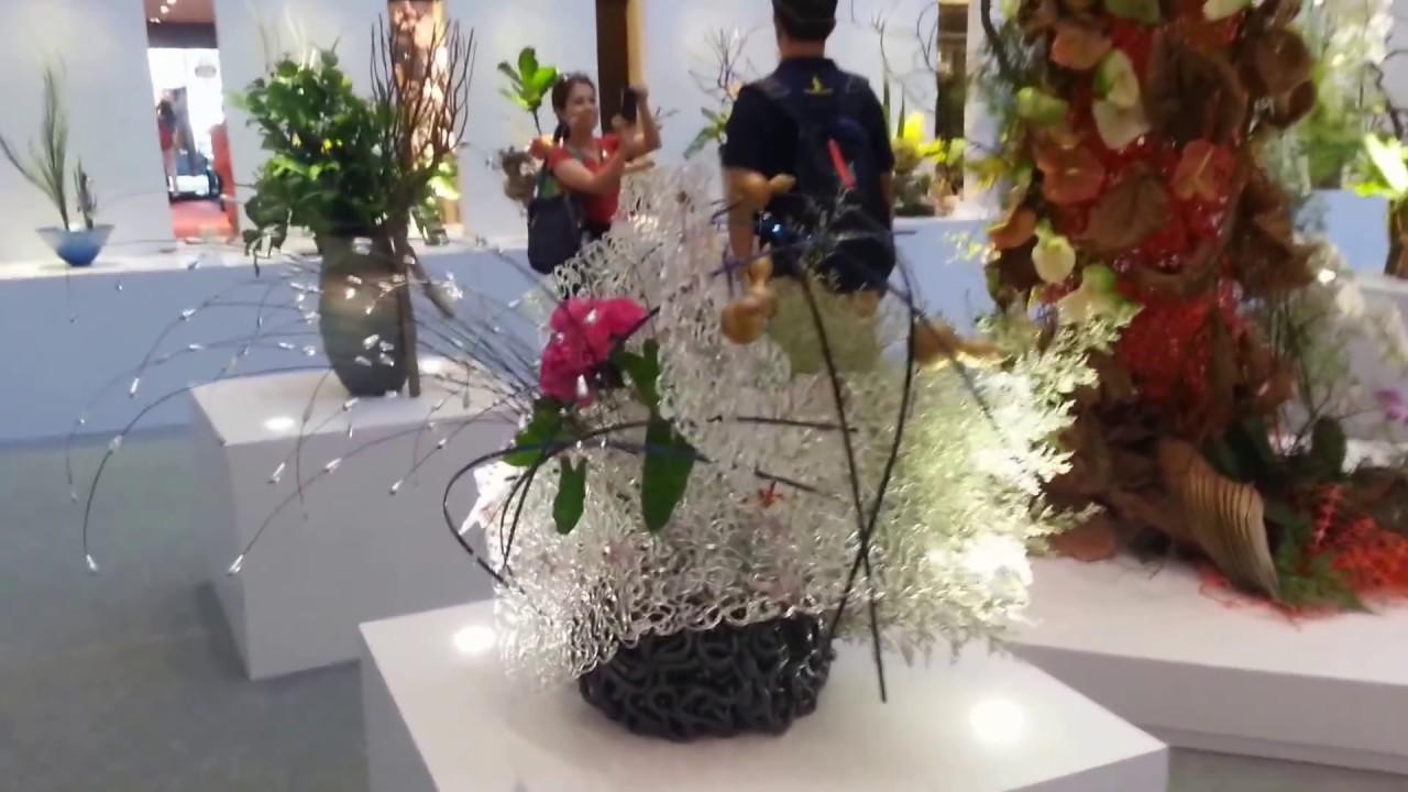 Ikebana Display Exhibition Friendship Through Flowers 2013