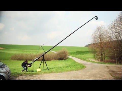 PROAIM Wave-5P Video Camera Jib Crane | Pan Tilt Head | Tripod Stand | 24ft | 32ft | 38ft