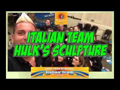 WBC 2018 San Diego - Italian Team - TIME-Lapse - HULK'S Sculpture