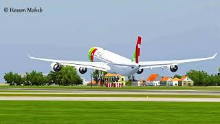 Plane Spotting At Lisbon Landing And Takeoffs Compilation ( FSX / Flight Simulator X )