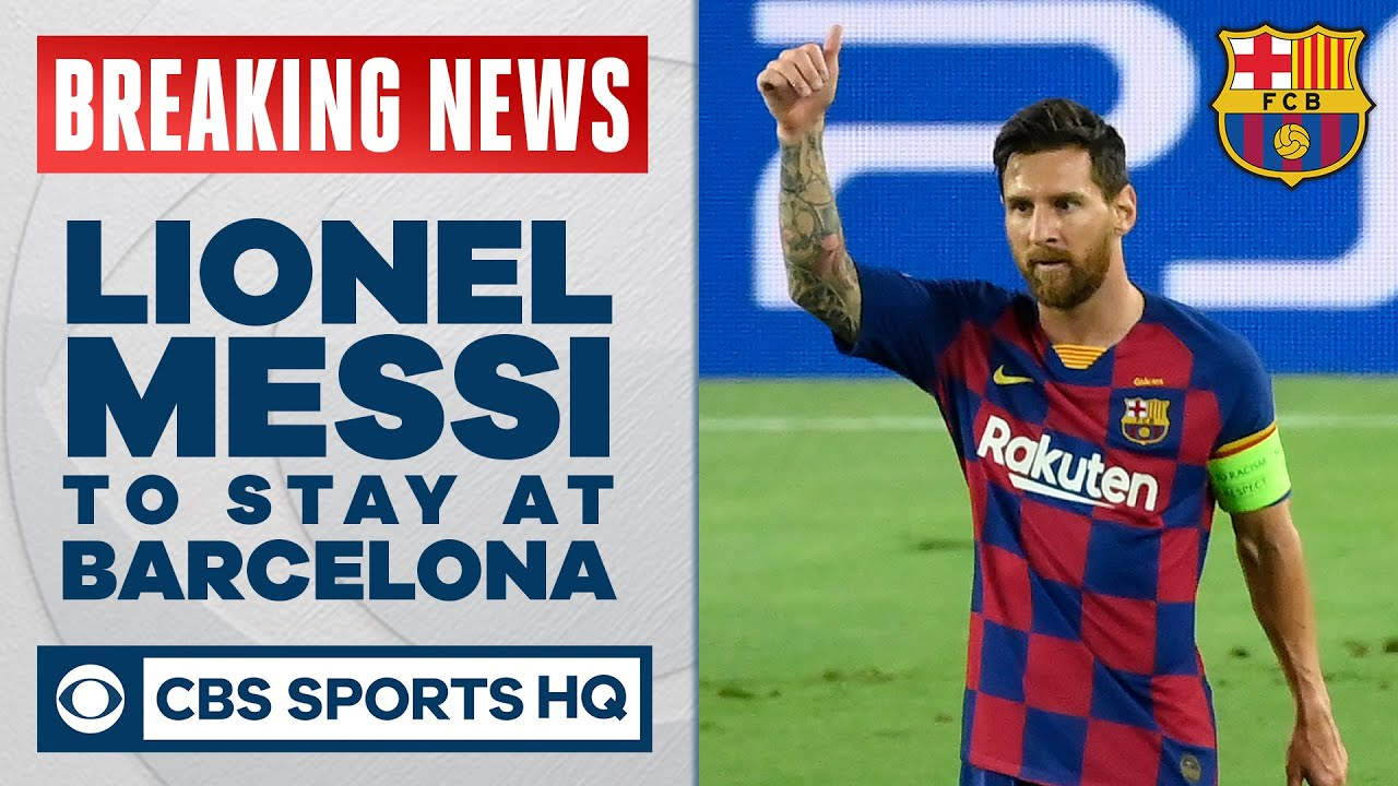 Lionel Messi is staying at Barcelona after the club refuses free transfer exit | UCL on CBS Sports
