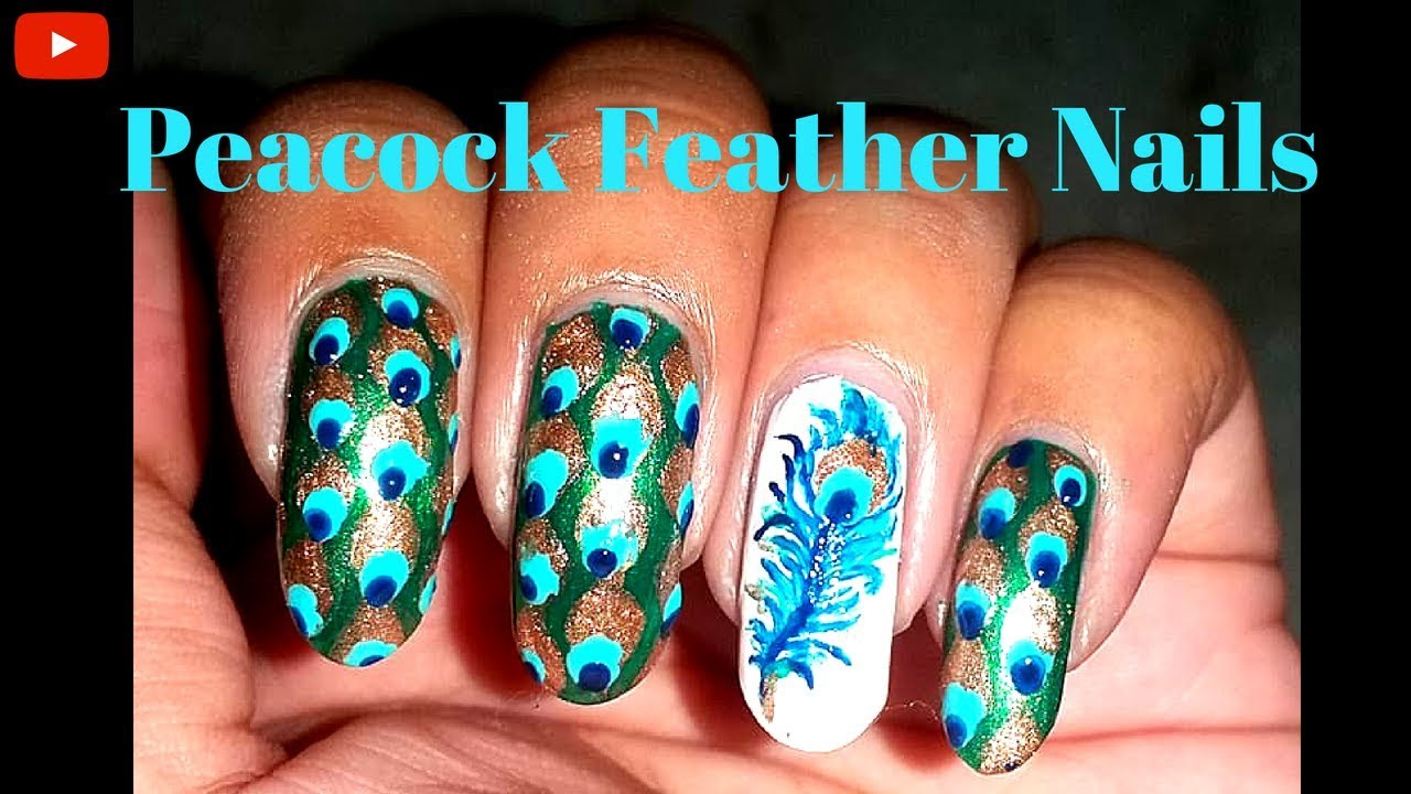 Watch - 56 images best peacock nail art video