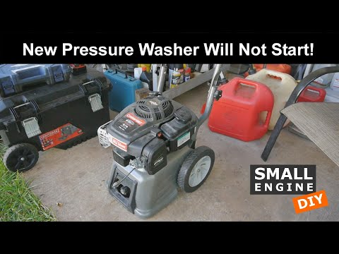 A New Pressure Washer Will Not Start