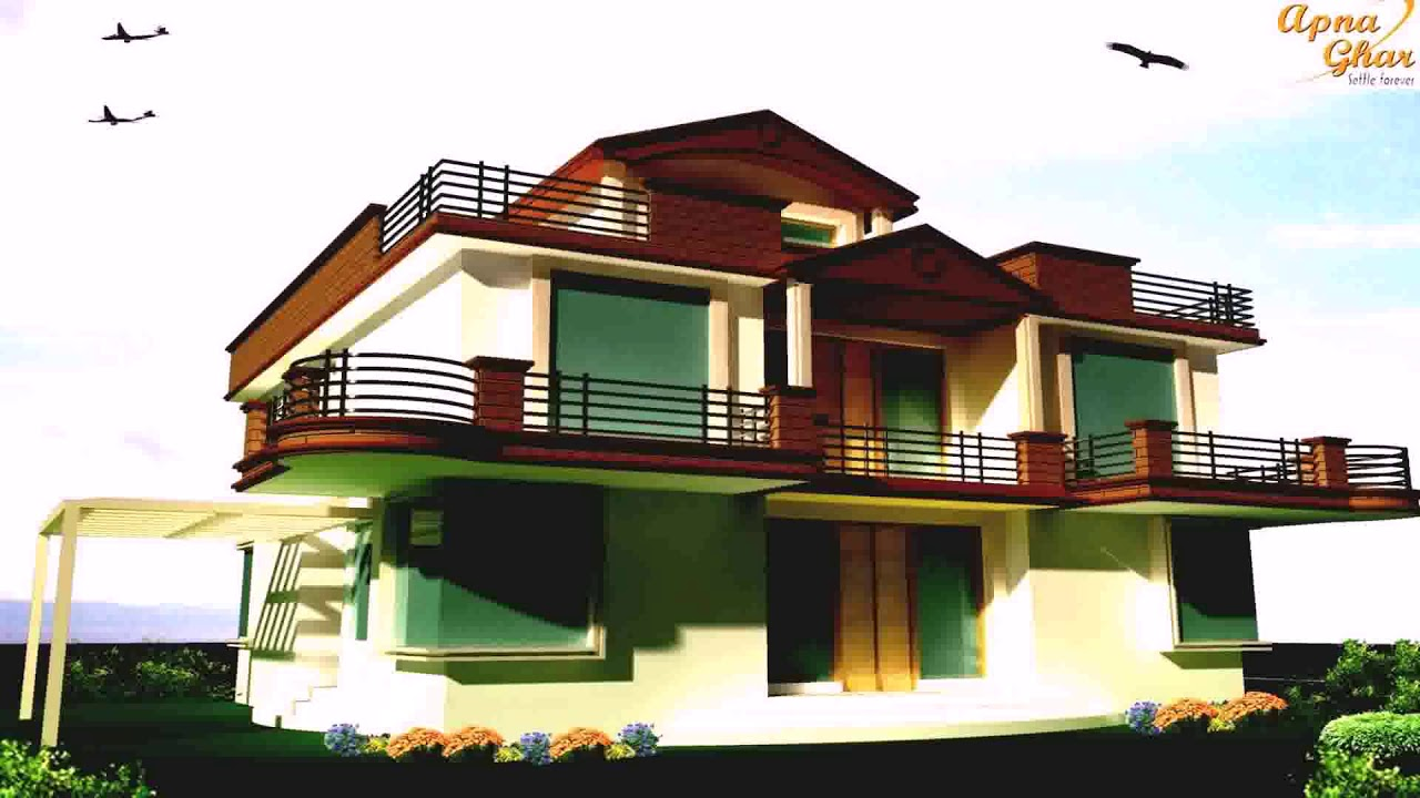 Modern house balcony railings