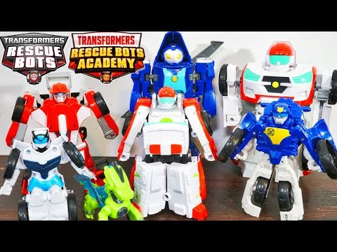 Transformers Rescue Bots Academy Optimus Prime Medix Saves New Autobos Flip Racers From Soundwave