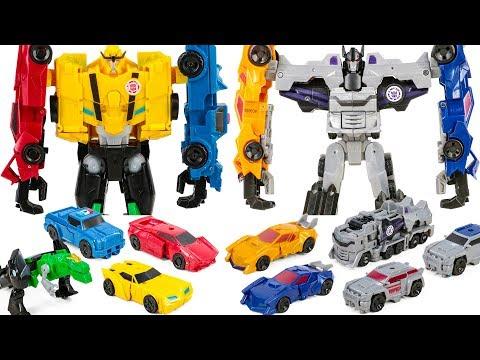 Robot In Disguise CombinerForce Team Ultra Bee VS Team Menasor Car&Truck Transformation