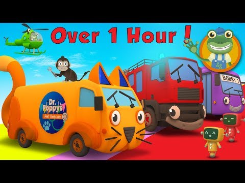 Andy The Animal Ambulance and More Trucks for Kids | Gecko's Garage