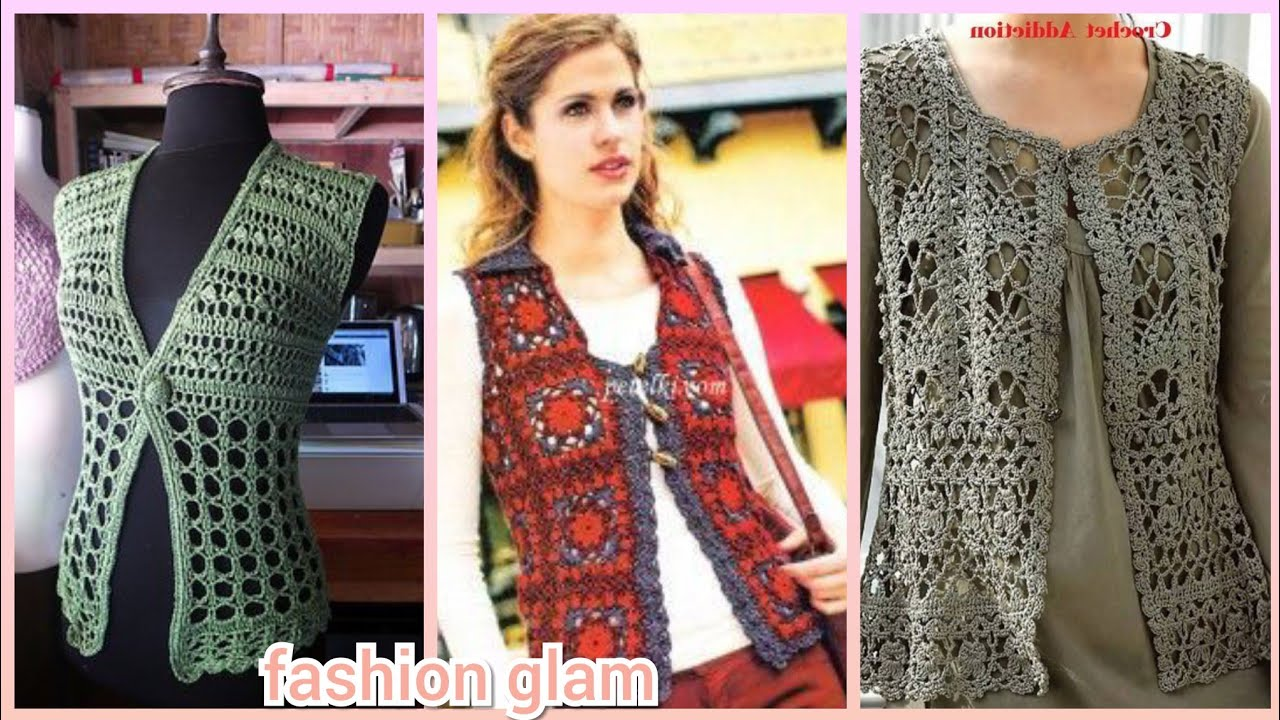 gorgeous crochet cardigans and jackets styles for women's