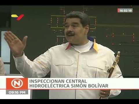 Maduro visita centrales eléctricas de Guri, Caruachi y Macagua y entrega espada del Libertador