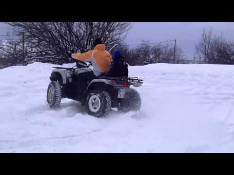 Παιχνίδι με γουρούνα YMC στο χιόνι, στον Άγιο Αθανάσιο