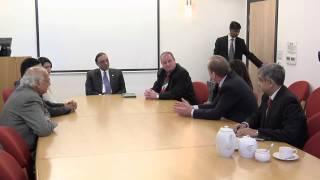 President of Pakistan Asif Ali Zardari visits Queen Elizabeth Hospital Birmingham