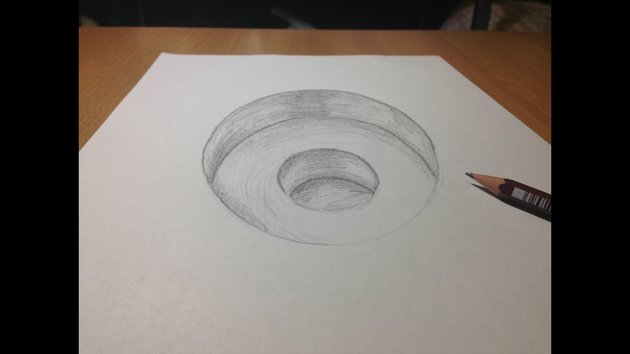 3d freehand drawing 3d hole time lapse youtube for 3d sketch online