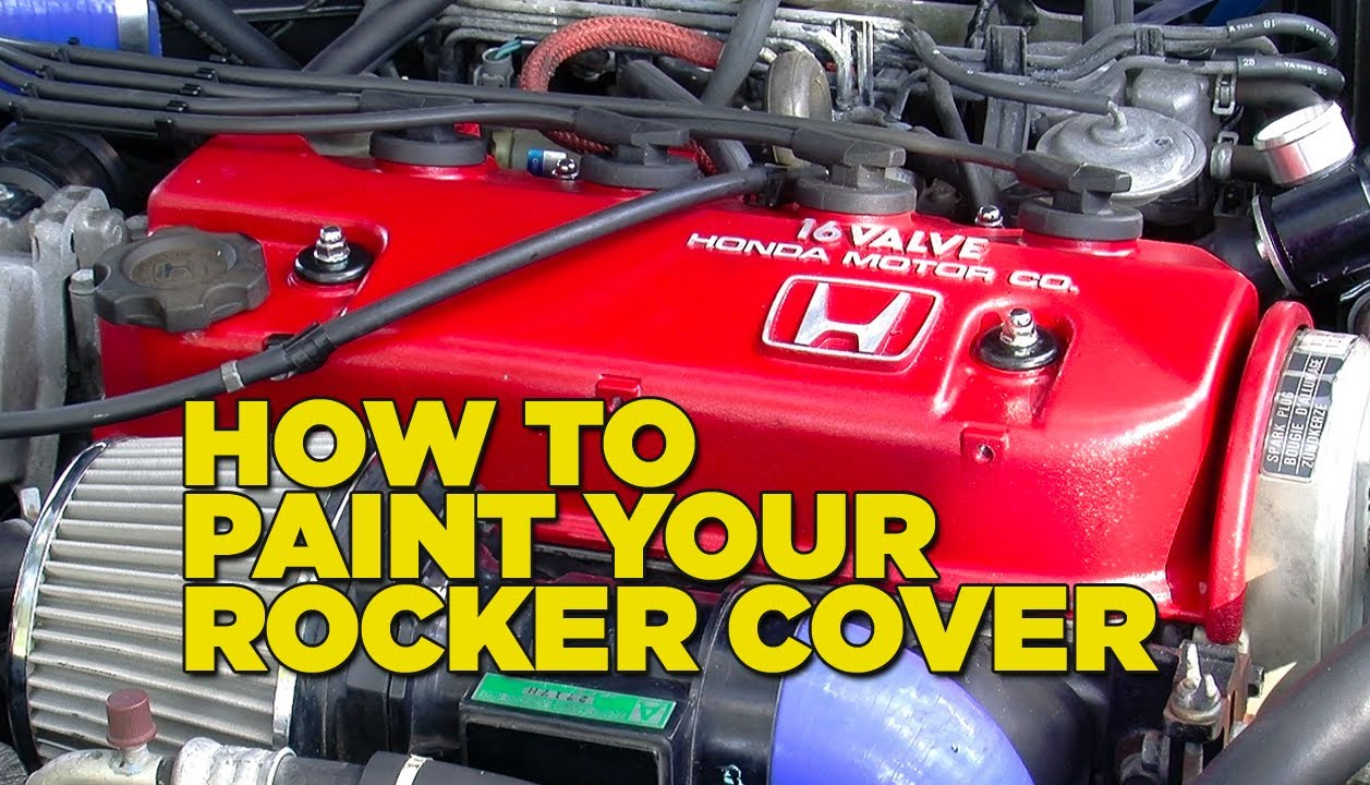 mighty car mods how to paint your rocker cover youtube. Black Bedroom Furniture Sets. Home Design Ideas