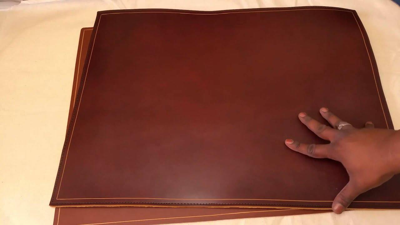 Custom Leather Deskpad Full Grain Desk Pad Youtube