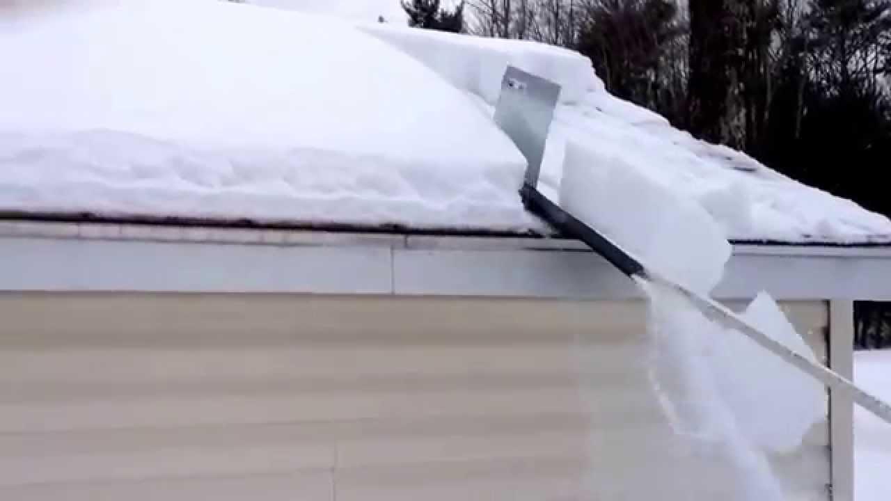 Snow Shredder Roof Cleaner Youtube