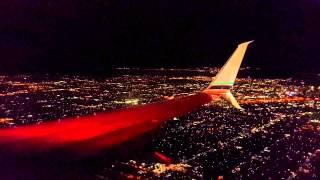 Landing in Los Angeles - LAX | Приземление самолета в Лос-Анджелесе