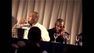 Mike Tyson & Frank Bruno at Leeds FC - Blanking Each Other!