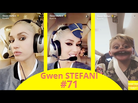 Gwen Stefani in a private jet !! snapchat - february 20 2017